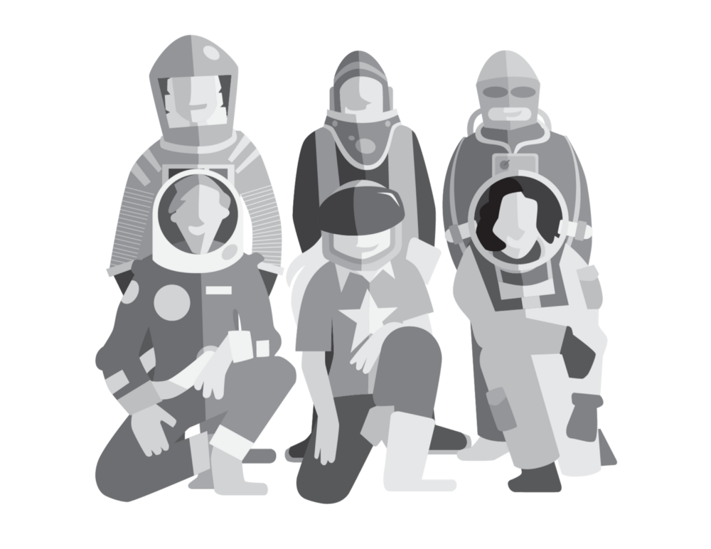 team of astronauts
