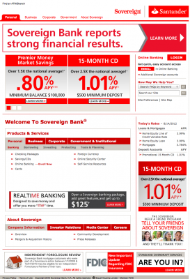 Sovereign Bank Homepage