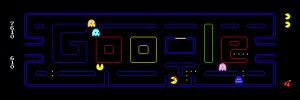 Fully Interactive Pacman Game in Google's Logo