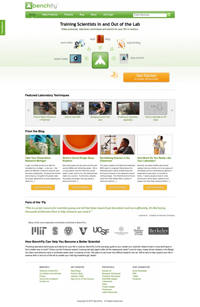 benchfly homepage after image