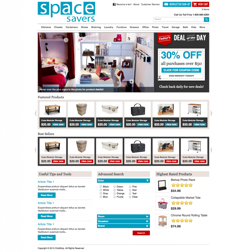 space savers new homepage