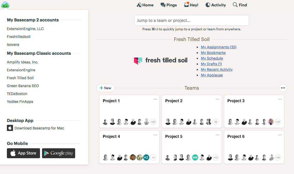 Basecamp Launchpad Account Switcher