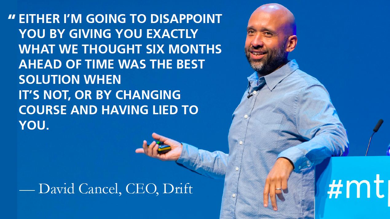 David Cancel on product roadmaps
