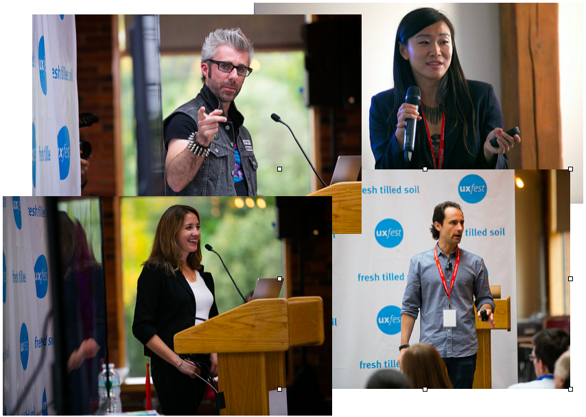 UX Fest 2014 speaker collage