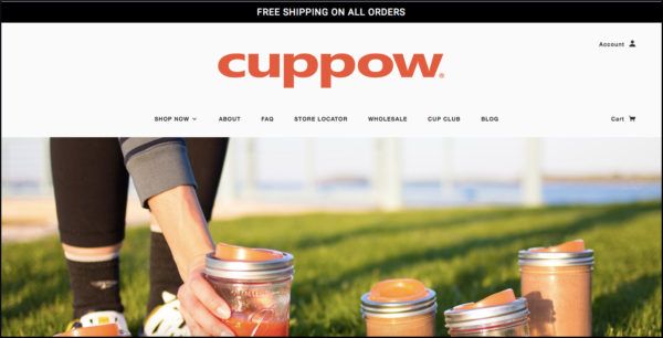 Cuppow home page