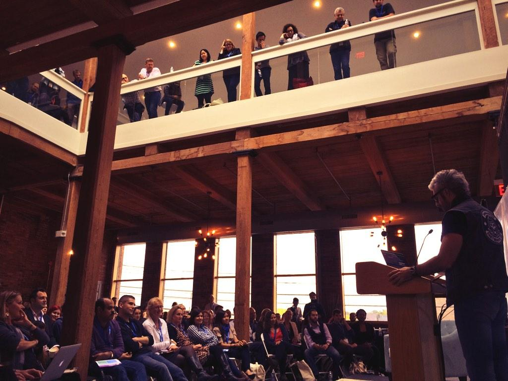UX Fest audience in the balcony