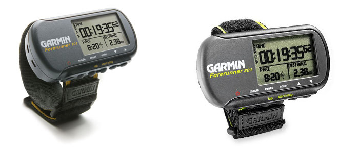 Garmin 101 and 201 sport watches