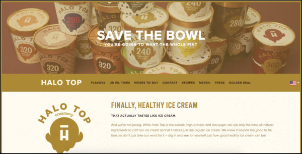Halotop home page