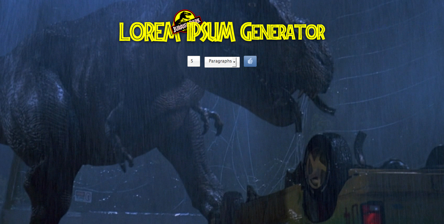 Hold Onto Your Butts! A Jurassic Park Lorem Ipsum Generator 2012-05-11 15-42-21