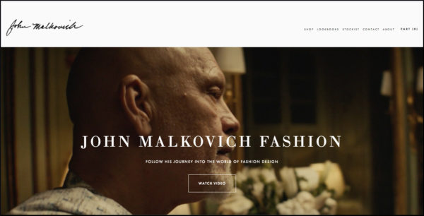 John Malkovich home page