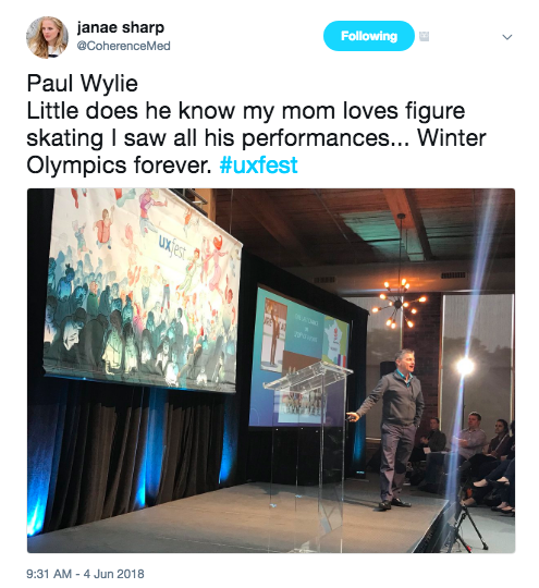 Paul Wylie on stage