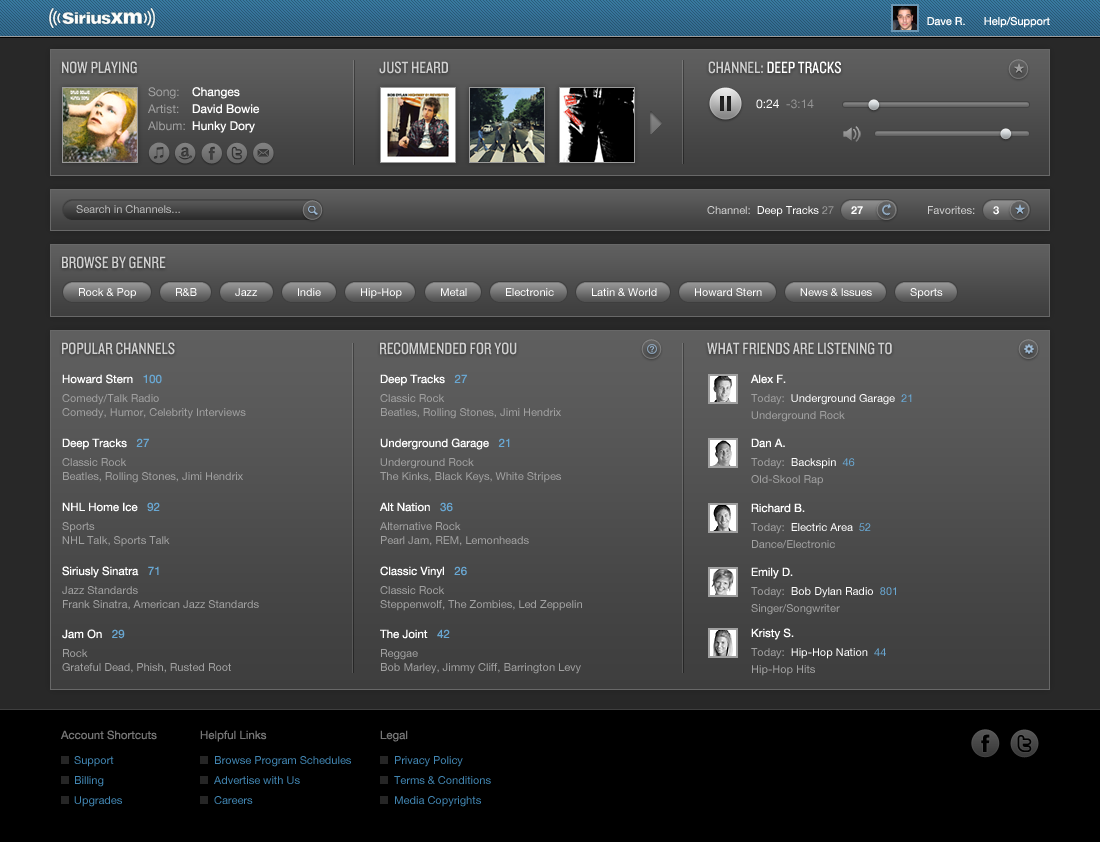 Sirius XM User Interface Re-imagined