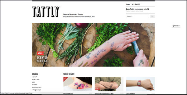 Tattly home page