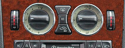 Mercedes climate control knobs