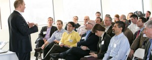 A shot of the audience at the Grapevine Event for Connectors.