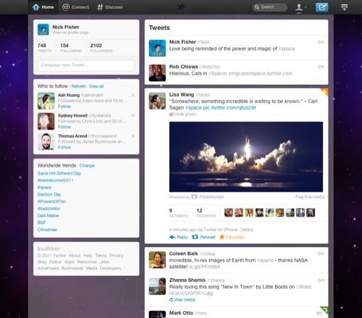 new twitter ui discover