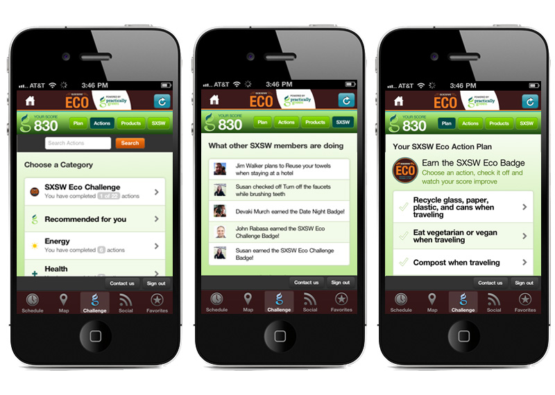 A Green Team Effort: Practically Green Mobile Design For