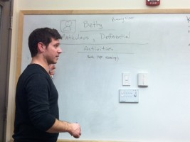 Dave at the whiteboard