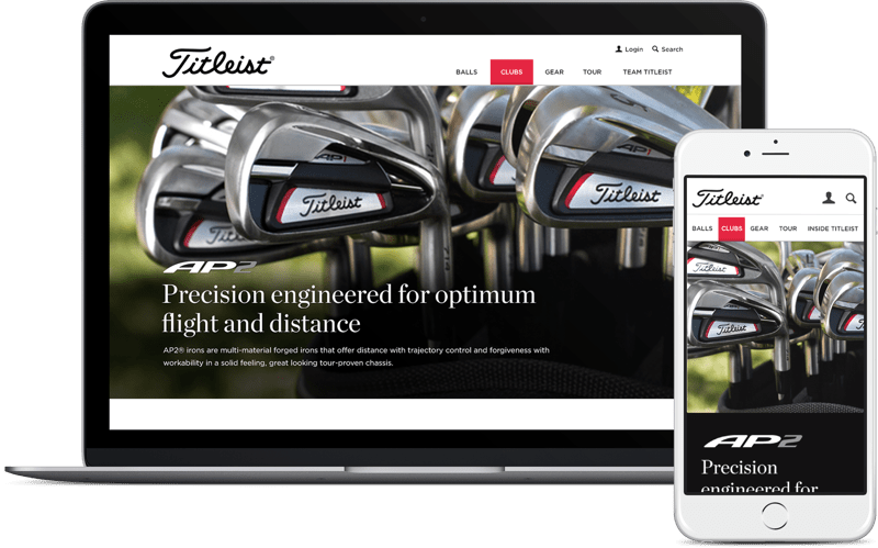 Titleist applications mockups