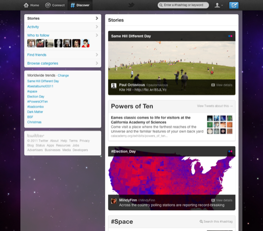 twitter ui discover